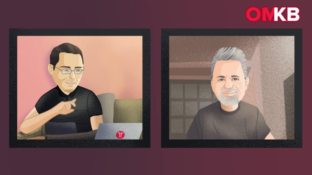 Schahab Hosseiny und Marcus Tandler auf der OMKB