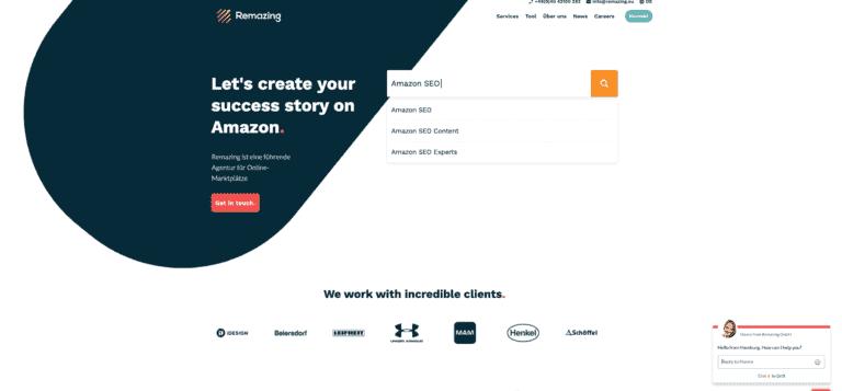 Remazing Webseite Screenshot