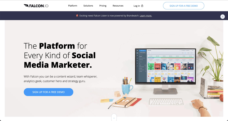 Falcon.io Screenshot