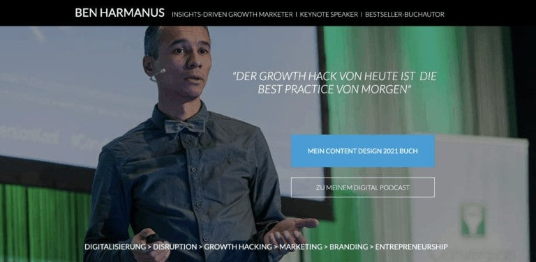 Ben Harmanus Website Screenshot