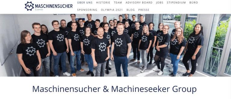 Maschinensucher Website Screenshot