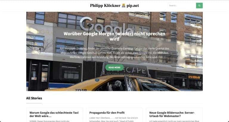 Philipp Klöckner Webseite Screenshot